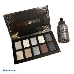 NYX   Love Disco Eyeshadow Palette + Highlighter